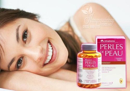 Cách làm đẹp da bằng viên uống perles de peau hydratant