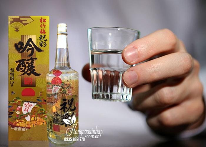 - Rượu Sake vẩy vàng Takara Shozu 1.8 lít