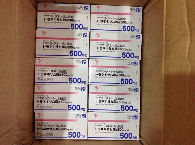 viên uống chống nắng Transamin 500mg của Nhật Bản
