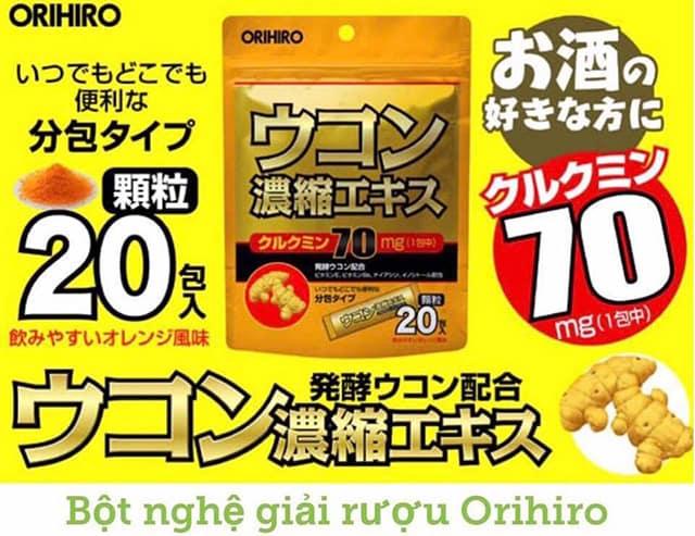 Tinh bột nghệ giải rượu Ukon Orihiro
