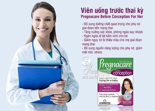Viên uống vitamin Pregnacare trước bầu có tác dụng gì-3