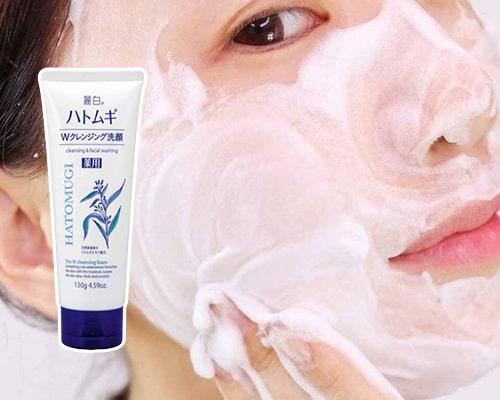 Sữa rửa mặt Hatomugi Naturie có công dụng gì-3
