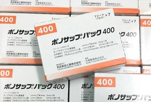 Cách uống thuốc trị vi khuẩn HP Lansup 400-1