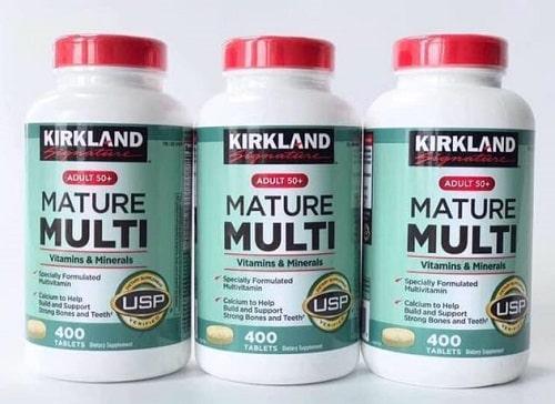 Cách sử dụng vitamin tổng hợp Kirkland Mature Multi-1