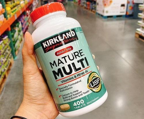 Cách sử dụng vitamin tổng hợp Kirkland Mature Multi-2