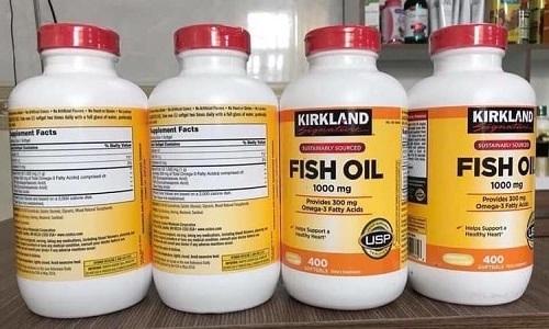 Cách dùng Fish Oil 1000mg Kirkland