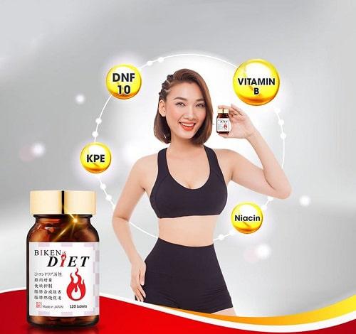 Cách sử dụng viên uống giảm cân Biken Diet của Nhật-3