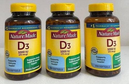 Thuốc Vitamin D3 Nature Made có tốt không?-1